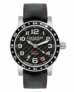 GRAHAM SILVERSTONE TIME ZONE GMT MEN'S WATCH 2TZAS.B02A, MSRP: $4,595