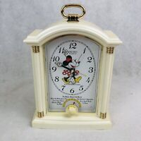Seiko Quartz Walt Disney Minnie Mouse Musical Alarm Clock Vintage 90s Tested