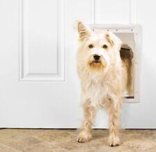 Premier Pet Plastic Dog/Cat Door Magnetic Closure White Medium *New In Box*