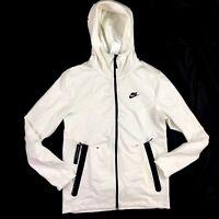 Nike Sportswear Tech Pack Full Zip Hoodie White Black AA3784-121 Men's XL-XXL