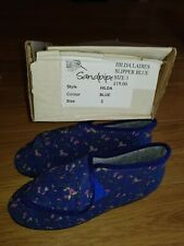 Sandpiper Ladies Slipper Boots  Hilda - Blue Floral - UK Size 3