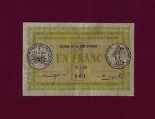 Ivory Coast ( Cote D'ivoire ) 1 Franc 1917 P-2  VF++  RARE