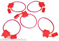 5 GOLIATH INDUSTRIAL 18 GAUGE IN-LINE BLADE FUSE HOLDERS AWG COPPER WIRE 12V