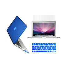 """3 in 1 Crystal  ROYAL BLUE Case for Macbook PRO 13"""" + Key Cover + LCD Screen"""