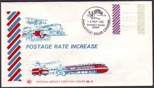 1985 33c FRAMA BARRED EDGE WESLEY FIRST DAY COVER UNADDRESSED CMV $60+ (PS4457A)