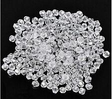 100 Stück Klare facettierte Bicone Acryl Spacer Perlen 4mm x 4mm durchsichtig
