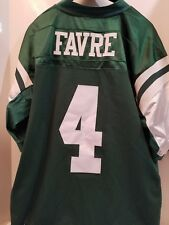 REEBOK NEW YORK NY JETS Brett Favre  4 NFL AUTHENTIC SEWN jersey adult 54 5e21632cf