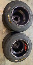 go kart racing Black aluminum wheels and vega tires