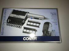 Conair 1875 Watt 3-in-1 Styling Hair Dryer; 3 Attachments to Detangle / Straight