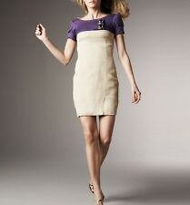 VERSACE Colorblock Dress with Gold Buttons 44 $1095