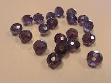 Glass Suncatcher Pearl Luster Plated Beads, Faceted, DarkGray, 6x4mm Hole 1mm