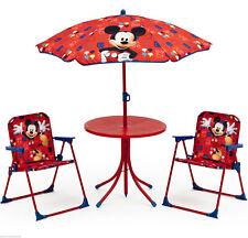 Micky Maus Sitzgruppe Tisch Stühle Kindertisch Gartenmöbel Mickey Mouse 89508MM