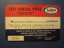 Old Vintage 1951 - American Sightseeing Assoc. - Annual BUS PASS