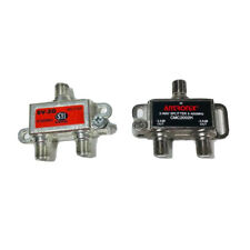 2-way Digital Cable Coaxial Splitter 5-1000mhz Lot Of 2