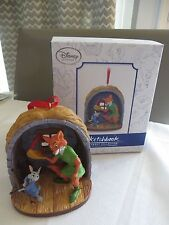 Disney Store Robin Hood & Skippy LIMITED EDITION Sketchbook Christmas Ornaments