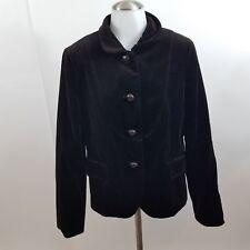 J. Crew Jacket womens 2 new Bella Brown Velvet Blazer dark button front solid