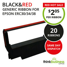 20 x Black&Red Generic Printer Ribbon Cartridge for Epson ERC30 ERC34 ERC38