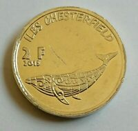 CHESTERFIELD ISLANDS - FRENCH TERRITORIES OF OCEANIA 2 Francs 2015 WHALE.