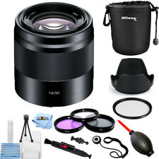 Sony E  50mm f/1.8 Lens - Sony E Mount Nex (Black)!! PRO BUNDLE BRAND NEW!!