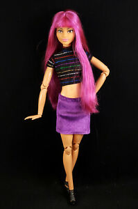 Barbie Made to Move Hybrid with 2021 Hairstylist Head Purple Hair for OOAK