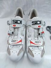 Sidi Ergo 3 Carbon Cycling Shoes Size EU 46 UK 11 With Look Cleats
