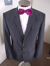 "HUGO BOSS 'Francis3/Stand1' Men's Grey Pin Check Suit Jacket C40"" Reg W/Blend"