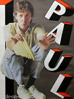 Paul McCartney 1983 Pipes of Peace Original Promo Jumbo Poster The Beatles
