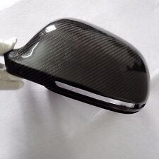 for Audi S4 B8 pre-facelift car mirror cover ABS + carbon fiber with side assist
