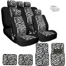 NEW PREMIUM BLACK MESH ANIMAL ZEBRA TIGER PRINT SEAT COVERS MATS FOR CHEVROLET