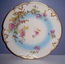 "ANTIQUE AK CD LIMOGES FRANCE HAND-PAINTED & GOLD GILDED  8.25"" CABINET PLATE"