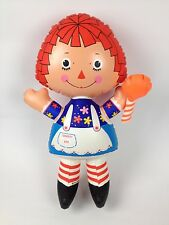 "VTG Ideal Toy 1973 Raggedy Ann 19""Inflatable Doll Vinyl Plastic Blow Up Toy"