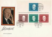 Germany 1968 Bonn Cancel Konrad Adenauer Chancellor FDC Stamps Cover ref 22892