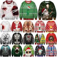 Ugly Unisex Sweater Vacation Santa Elf Popular Women Men Sweatshirt Gift 2019