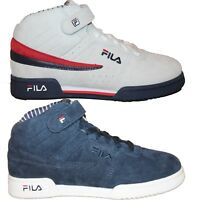 Boys Girls Big Kids Fila F13 PS PINSTRIPE Retro Casual Suede Nubuck Mid Shoes