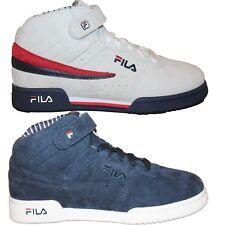 adb7b6858586 Boys Girls Big Kids Fila F13 PS PINSTRIPE Retro Casual Suede Nubuck Mid  Shoes