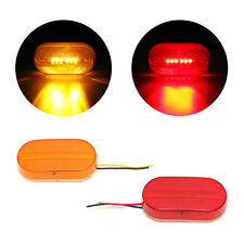 5 Amber& 5 Red surface Mount Side Marker 6 Leds Clearance Lamp w/Removable Lens