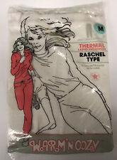 Vintage Warm N Cozy Raschel Ladies Thermal Underwear Bottoms M Made in Usa 50/50