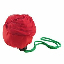 gruene Blaetter Rose rot Faltbare Einkaufstasche Handtasche GY