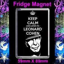 KEEP CALM AND LISTEN TO LEONARD COHEN - FRIDGE MAGNET.cd 2