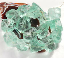 "20x18x17mm Aqua Blue Glass Quartz Rough Nugget Large Loose Beads 15""(QZ205)h"