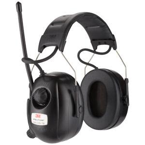 3M Peltor DAB+ FM-Radio-Kapselgehörschützer - Taktischer Gehörschutz - Schwarz