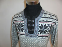 Norweger Strickjacke Nordwal wool Strickjacke vintage Hippie boho jacke M/L
