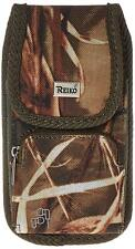 Reiko Vertical Rugged Pouch With Metal Logo & Velcro for iPhone 6/6s-Camouflage