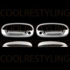 For Ford F-150 Harley Davidson 01-03 Chrome 2 Doors Handles Covers W/Out Key Pad