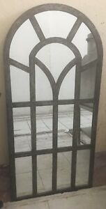 Large Ornament Wall Mirror French Providence Hanging Metal Frame Home Decor