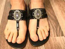 Onex Women's Comfort Sandals Flip Flops Stylish Glitter Back Strap Size 10 M USA