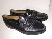 G.H. Bass & Co. Black Leather Loafers Kiltie Tassel Mens Shoes Size 9.5 M