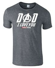 Dad I Love You 3000 Fathers Day T-Shirt Tony Stark Avengers Endgame Inspired Tee