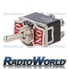 Heavy Duty Toggle Flick Switch 12V ON/OFF/ON Car Dash Light Metal 12 Volt DPDT