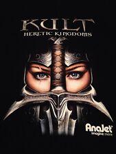 "Kult Heretic Kingdoms t shirt ""Anajet"" Fantasy Gamers sz M black ""NWOT"""